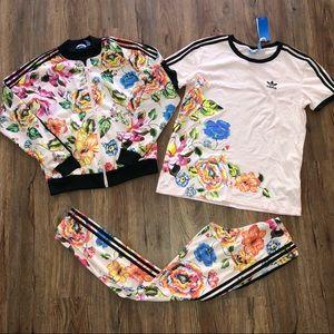 Adidas Floralita Bundle Jacket Legging Tee 3-Piece